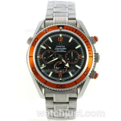 Practical UK Sale Omega Seamaster Automatic Fake Watch With Black Dial For Men