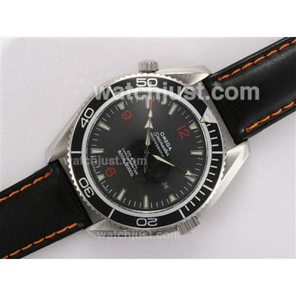 1:1 Best UK Omega Seamaster Automatic Replica Watch With Black Dial For Men