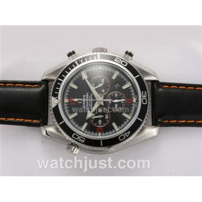 Swiss Movement UK Sale Omega Seamaster Automatic Fake Watch With Black Dial For Men