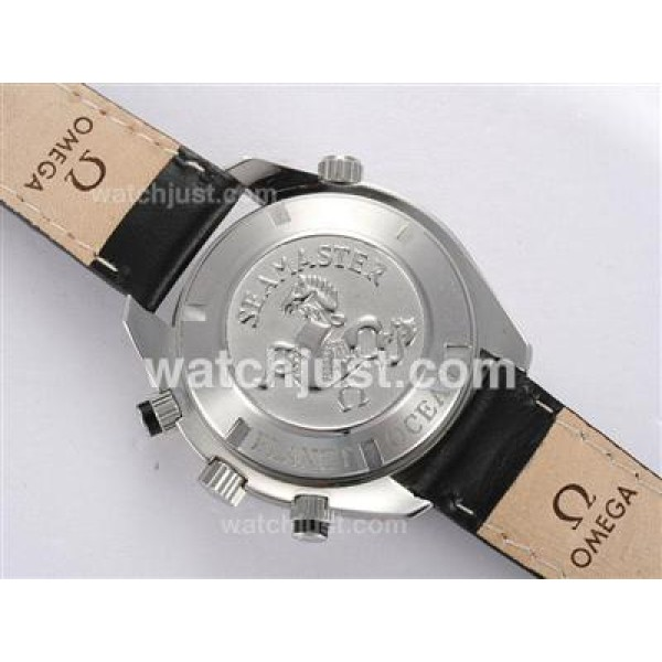 1:1 Best UK Sale Omega Seamaster Automatic Fake Watch With Black Dial For Men