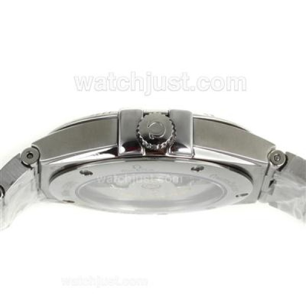 Perfect UK Omega Constellation Automatic Fake Watch With Black Dial For Men