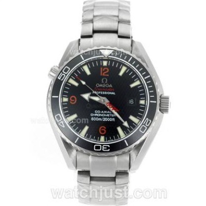 Waterproof UK Sale Omega Planet Ocean Automatic Replica Watch With Black Dial For Men