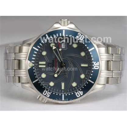 Best UK Sale Omega Seamaster Automatic Replica Watch With Blue Dial For Men