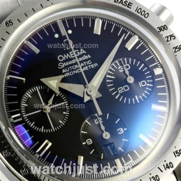 Best UK Sale Omega Speedmaster Automatic Fake Watch With Blue Dial For Men