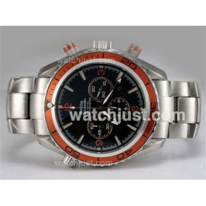 Quality UK Sale Omega Seamaster Automatic Replica Watch With Black Dial For Men