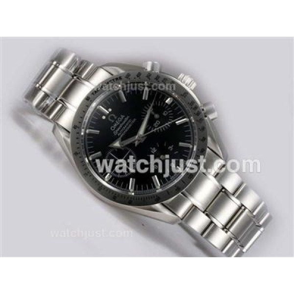 Cheap UK Sale Omega Speedmaster Automatic Fake Watch With Black Dial For Men