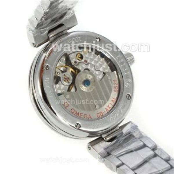 Perfect UK Sale Omega Ladymatic Automatic Replica Watch With White Dial For Women