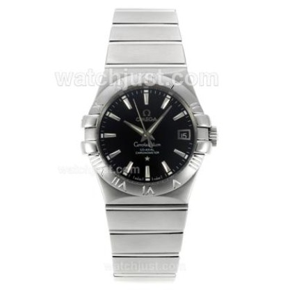 Cheap UK Omega Constellation Automatic Replica Watch With Black Dial For Women