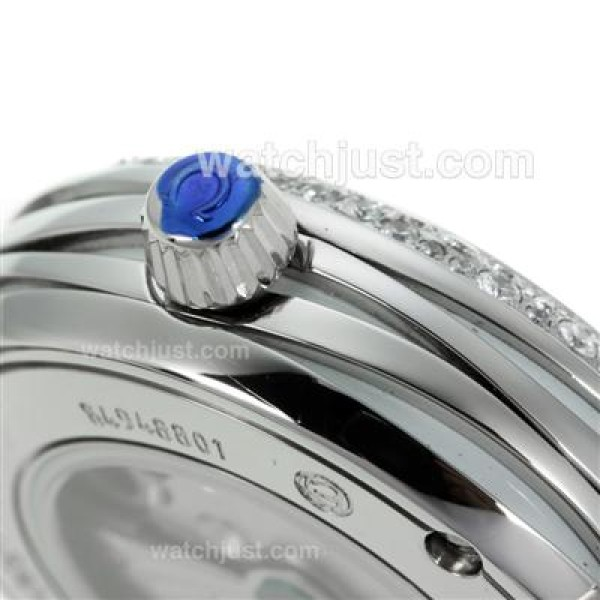 Best UK Sale Omega Ladymatic Automatic Fake Watch With White Dial For Women