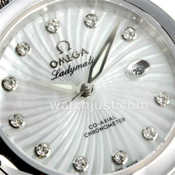 Cheap UK Sale Omega Ladymatic Automatic Fake Watch With White Dial For Women