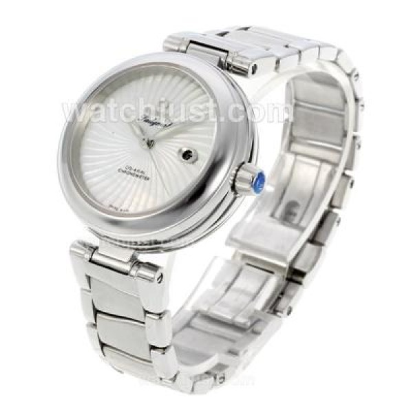 Cheap UK Sale Omega Ladymatic Automatic Replica Watch With White Dial For Women