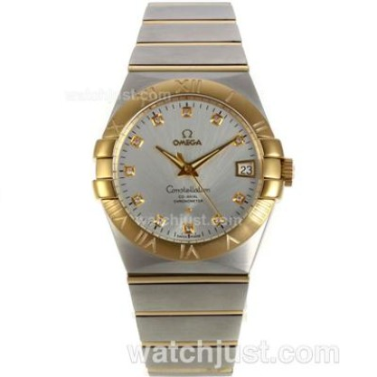 Perfect UK Omega Constellation Automatic Replica Watch With Silvery Dial For Women