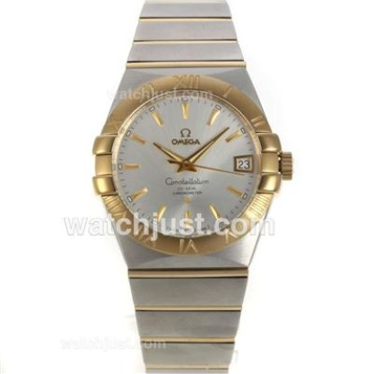 Perfect UK Omega Constellation Automatic Fake Watch With Silvery Dial For Women