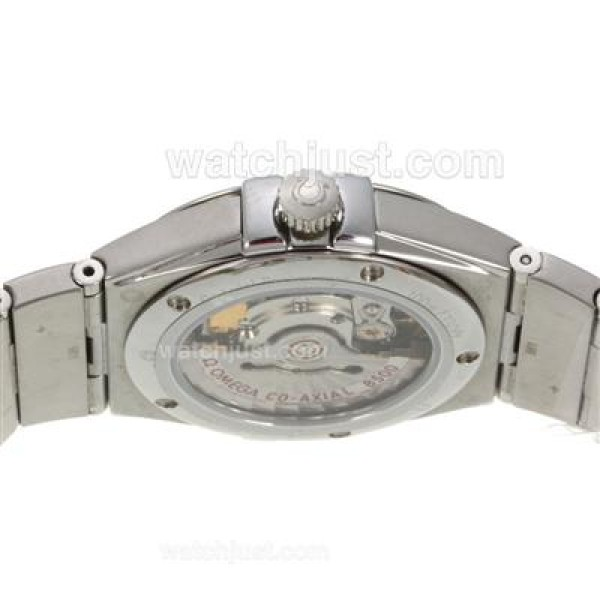 Best UK Omega Constellation Automatic Replica Watch With White Dial For Women