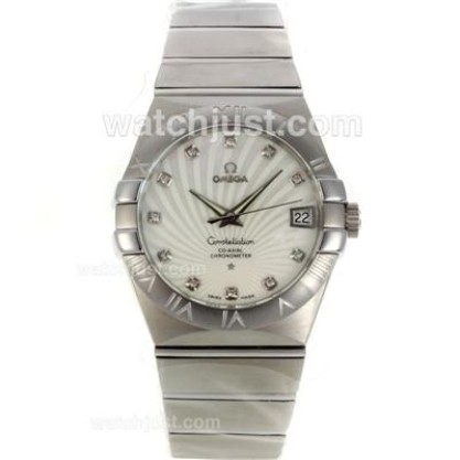 Perfect UK Omega Constellation Automatic Fake Watch With White Dial For Men