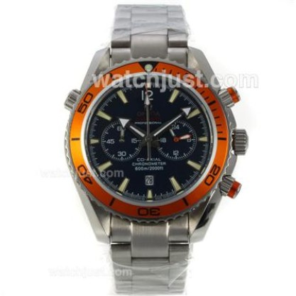 High-Quality UK Sale Omega Seamaster Automatic Fake Watch With Black Dial For Men
