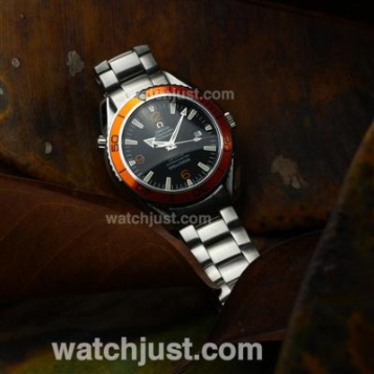 Perfect UK Sale Omega Seamaster Automatic Replica Watch With Black Dial For Men