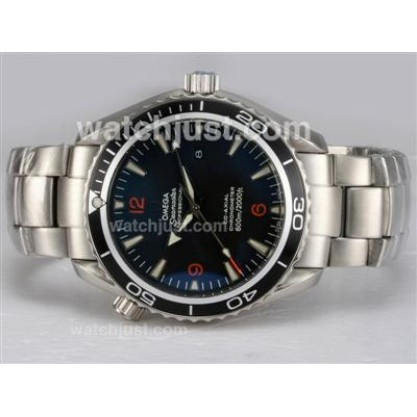 Swiss Made UK Sale Omega Seamaster Automatic Replica Watch With Black Dial For Men