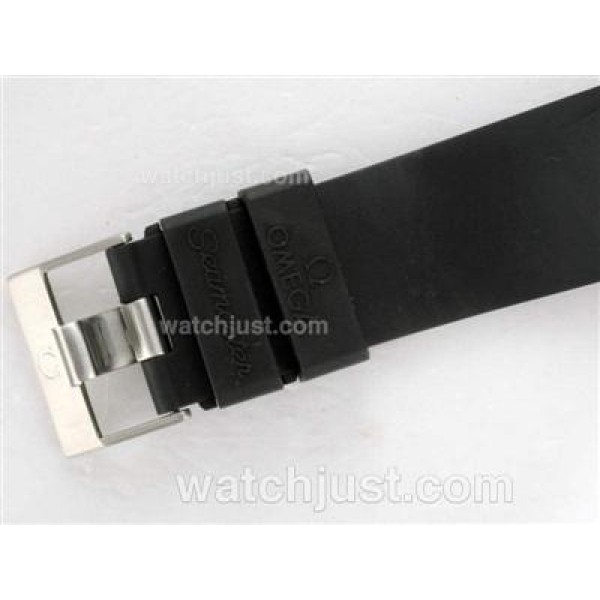 1:1 Good Quality UK Sale Omega Seamaster Automatic Replica Watch With Black Dial For Men