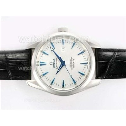 Perfect UK Sale Omega Seamaster Automatic Replica Watch With White Dial For Men