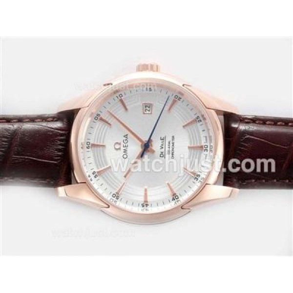 Good Quality UK Sale Omega Hour Vision Automatic Fake Watch With Silvery Dial For Men