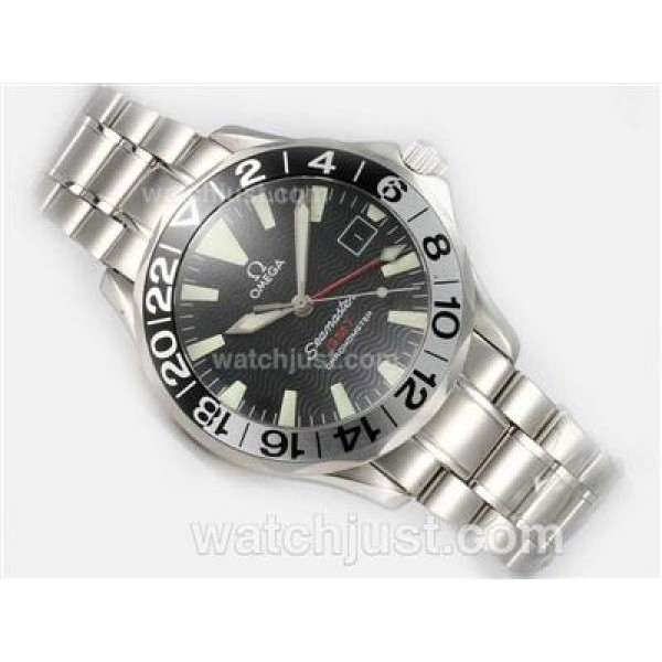 Practical UK Sale Omega Seamaster Automatic Replica Watch With Black Dial For Men