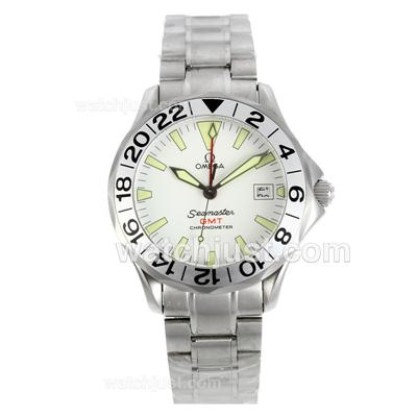 Practical UK Sale Omega Seamaster Automatic Fake Watch With White Dial For Men