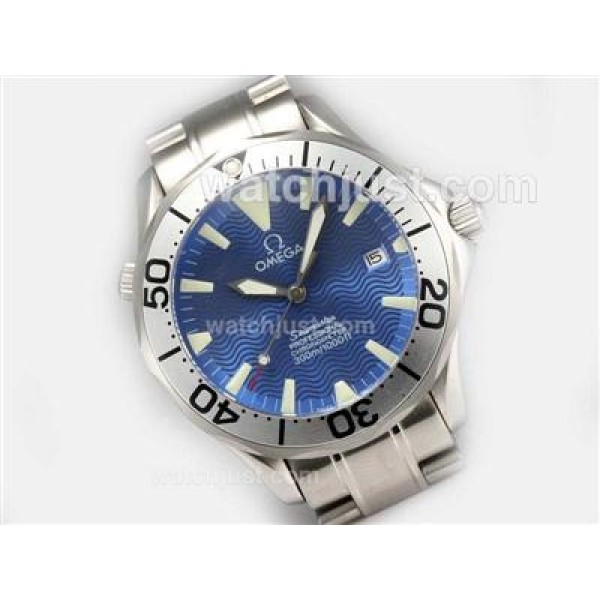 Cheap UK Sale Omega Seamaster Automatic Fake Watch With Blue Dial For Men