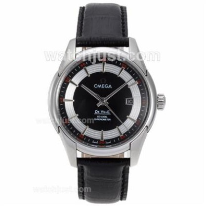 Swiss Made UK Sale Omega Hour Vision Automatic Replica Watch With Black And Silvery Dial For Men