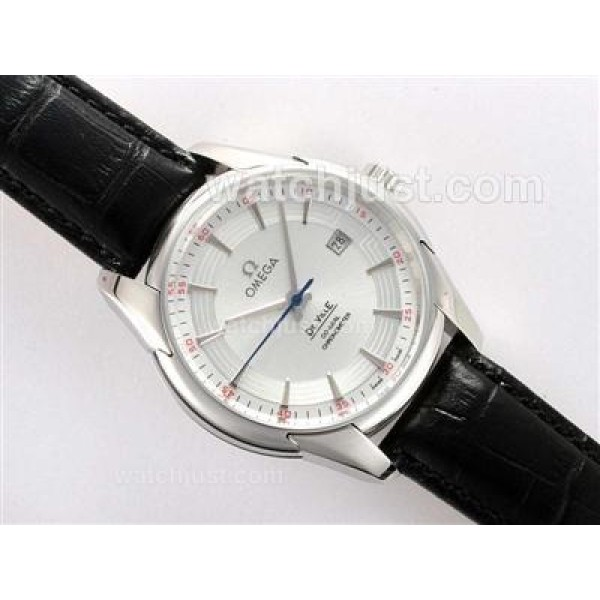 Swiss Made UK Sale Omega Hour Vision Automatic Replica Watch With White Dial For Men