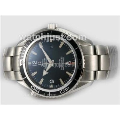 Cheap UK Sale Omega Seamaster Automatic Fake Watch With Black Dial For Men