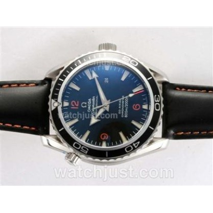 1:1 Perfect UK Sale Omega Seamaster Automatic Fake Watch With Black Dial For Men