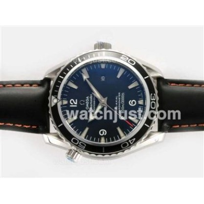 Good Quality UK Sale Omega Seamaster Automatic Fake Watch With Black Dial For Men