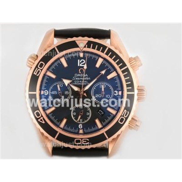 Cheap UK Sale Omega Planet Ocean Automatic Replica Watch With Black Dial For Men