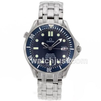 Cheap UK Sale Omega Seamaster Automatic Replica Watch With Blue Dial For Men