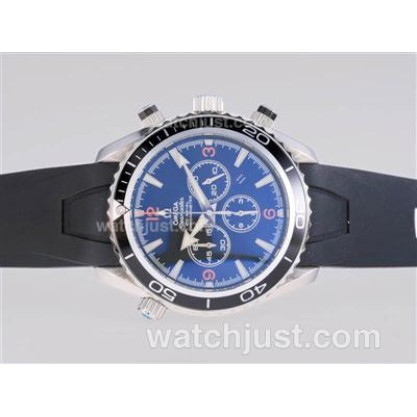 AAA Perfect UK Sale Omega Seamaster Automatic Fake Watch With Black Dial For Men