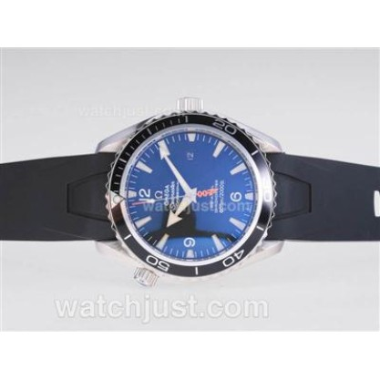 Waterproof UK Sale Omega Seamaster Automatic Fake Watch With Black Dial For Men