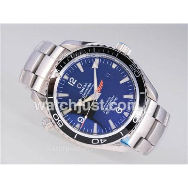 Perfect UK Sale Omega Seamaster Automatic Fake Watch With Blue Dial For Men