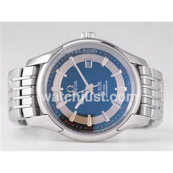 Best UK Sale Omega Hour Vision Automatic Fake Watch With Silvery And Black Dial For Men