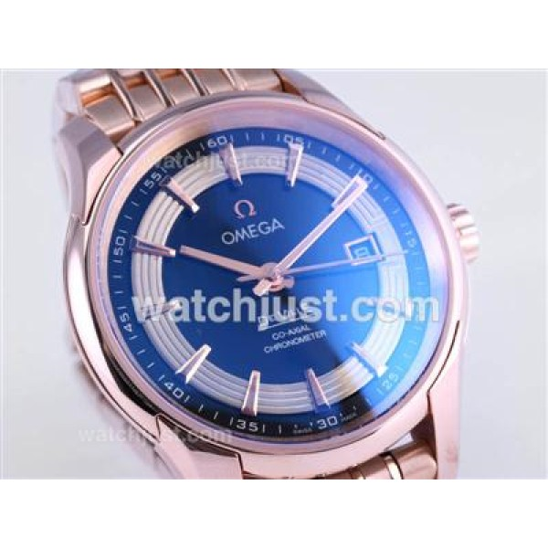 Best UK Sale Omega Hour Vision Automatic Fake Watch With Black And White Dial For Men