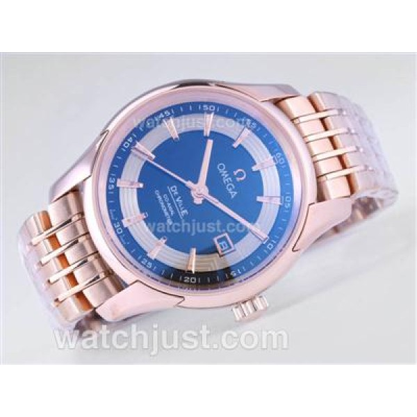 Quality UK Sale Omega Hour Vision Automatic Replica Watch With Black And White Dial For Men