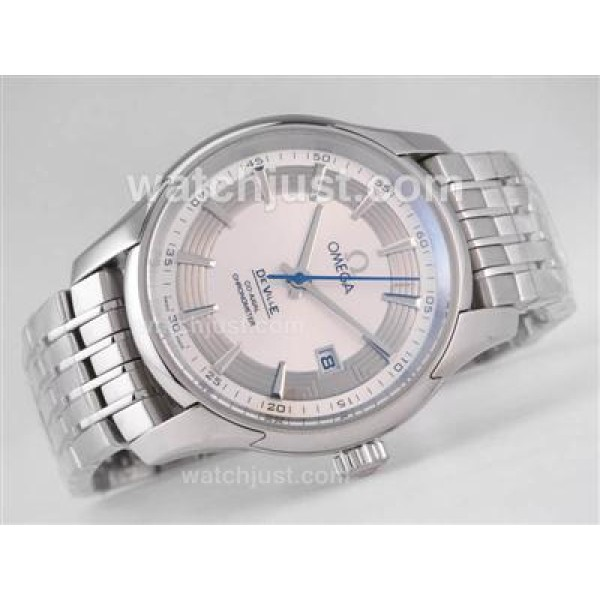 Quality UK Sale Omega De Ville Automatic Replica Watch With Silvery Dial For Men