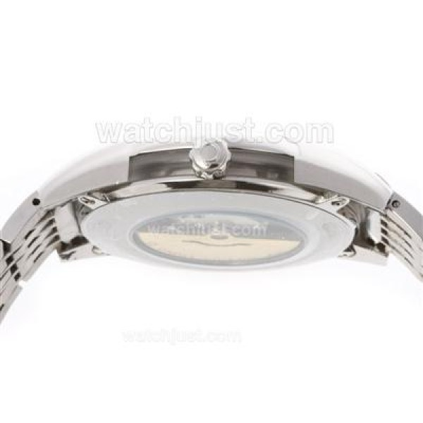 1:1 Best UK Sale Omega Hour Vision Automatic Fake Watch With White And Silvery Dial For Men