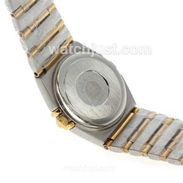 Perfect UK Sale Omega Constellation Quartz Fake Watch With White Dial For Women