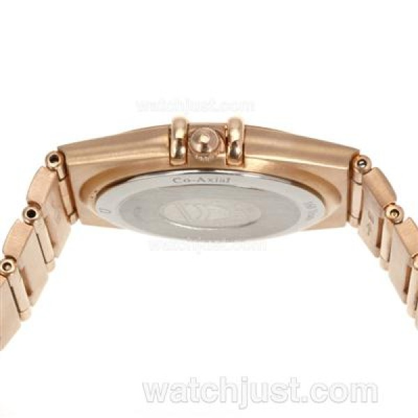 Best UK Omega Constellation Quartz Replica Watch With White Dial For Women