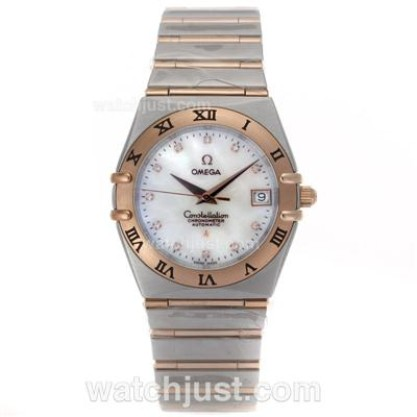 Quality AAA UK Omega Constellation Quartz Fake Watch With White Dial For Men