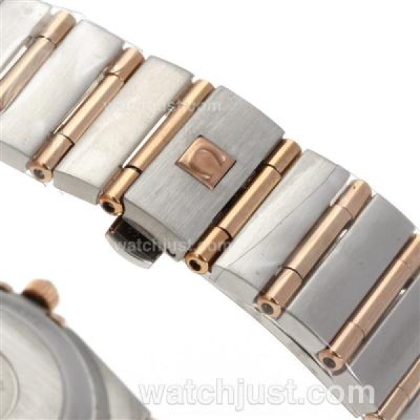 Best AAA UK Omega Constellation Quartz Fake Watch With White Dial For Men