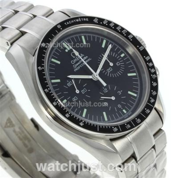Quality UK Sale Omega Speedmaster Automatic Fake Watch With Black Dial For Men
