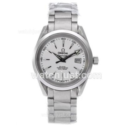Cheap UK Sale Omega Seamaster Automatic Fake Watch With White Dial For Men