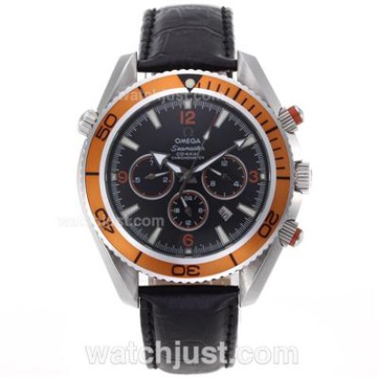 Good Quality UK Sale Omega Seamaster Automatic Replica Watch With Orange Bezel For Men